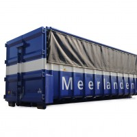 Volumecontainer met klep 40 m3