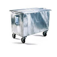 Rolcontainer staal 750 liter