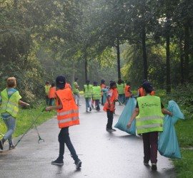 De Bosbouwers - zwerfvuilactie Kids for Kids School Olympics