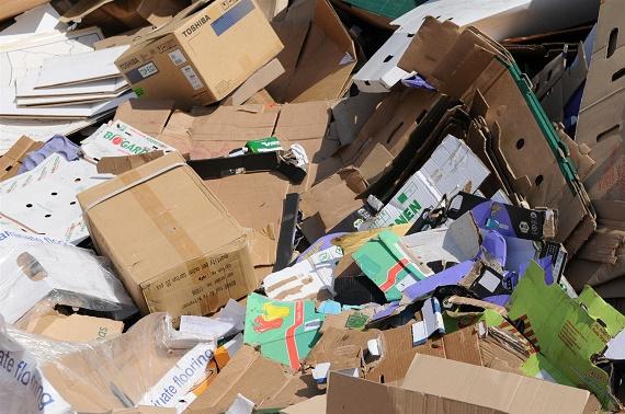Papier en karton bedrijfsafval